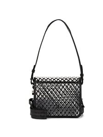 da938c118 Off-white Womens Binder-Clip Small Leather-Trimmed Crossbody Bag - Black