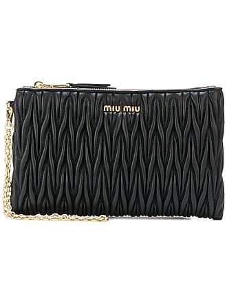 0719aa811c83 Miu Miu matelassé zip clutch bag - Black