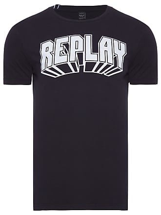 Replay CAMISETA MASCULINA 3D - PRETO