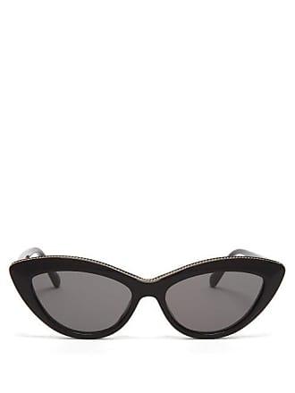 Stella McCartney Stella Mccartney - Chain Trim Acetate Cat Eye Sunglasses - Womens - Black