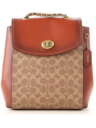 Coach Backpack for Women On Sale, Tan, Leather, 2017, one size