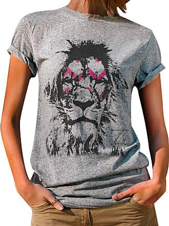 cb8425a5ce T-Shirts Casuais (Casual) Feminino  Compre com até −54%