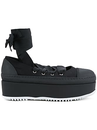 8997723fc73 Marni criss cross tie ballerina platforms - Black