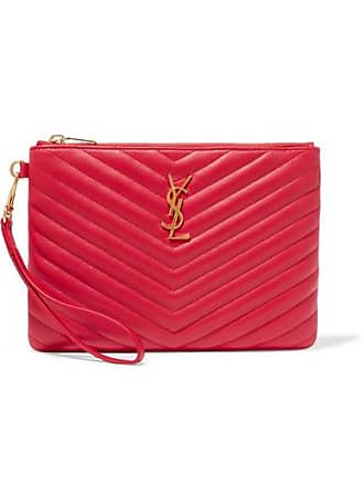 4b9c033ca54 Kate Tassel leather crossbody bag. Delivery: free. Saint Laurent Monogramme  Quilted Leather Pouch - Red