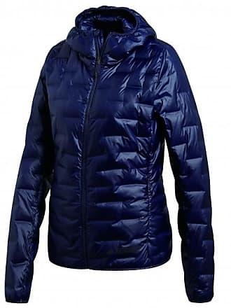 adidas Lite Down Hooded Jacket Daunenjacke für Damen   blau schwarz feb3f2dd88