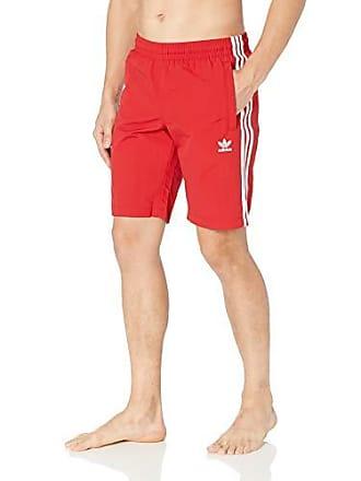 1c87c942caa07 adidas Originals Mens 3-Stripes Swim Trunks, Power red, Medium