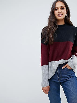 Brave Soul Lannistorm Block Stripe Sweater - Red