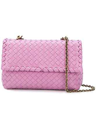 Bottega Veneta twilight Intrecciato nappa baby olimpia bag - Pink 481bf4f886