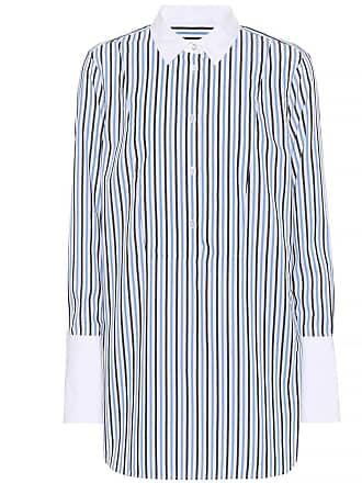 Equipment Striped cotton wide-cuff shirt