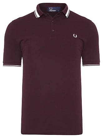 Fred Perry POLO MASCULINA TIPPED PIQUET - MARROM