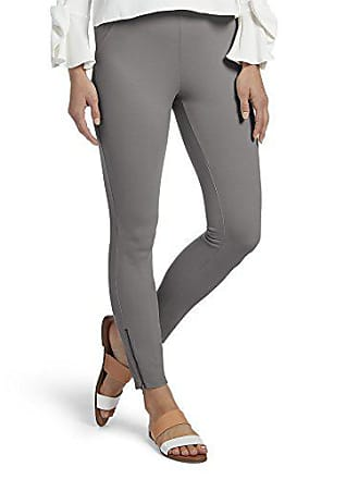 Hue Womens Ankle Zip Simply Stretch Twill Skimmer Leggings, Filament, L
