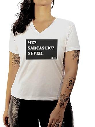 Luma Ventura Camiseta Luma Ventura Frase Sarcastic Branca