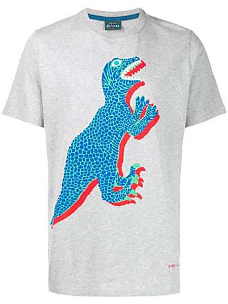 Paul Smith dinosaur print T-shirt - Cinza