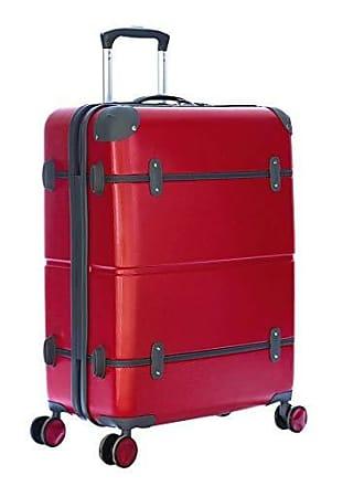 Yin's Mala de Viagem Média ABS com Rodinhas Vermelha Yins YS1035VC-M