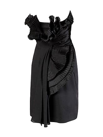 0d4b1d3f6c13ae Victor Costa Vintage Black Origami Pleated Avant Garde Strapless Dress
