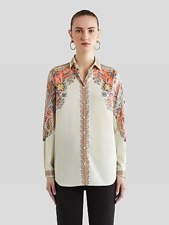 Etro Cotton Shirt With Paisley Print, Woman, White, Size 38