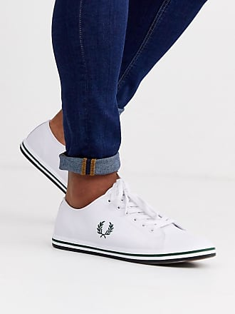 Fred Perry Kingston leather plimsolls in white