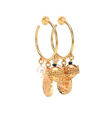 Oscar De La Renta Charm hoop earrings