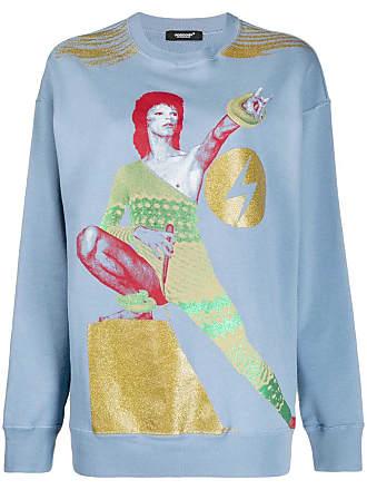 Undercover Moletom Bowie com estampa gráfica - Azul