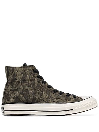 f697458f8b81 Converse green Chuck 70 camouflage cotton high top sneakers