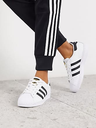 adidas Originals Superstar sneakers in white and black