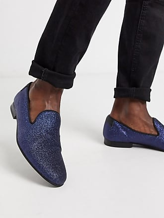 Twisted Tailor Mocassini blu navy glitterati