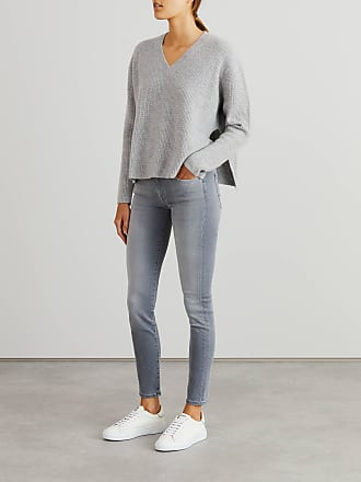 7 For All Mankind Jeans Skinny Slim Illusion Grau