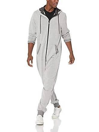 2(x)ist Mens Hooded Zip Up Flight Suit Pants, Speckled Grey, Small