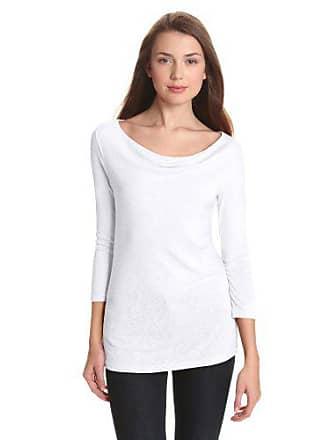 1a95549983023 Michael Stars Womens 1x1 Slub 3 4 Sleeve Drape Neck Tee Shirt