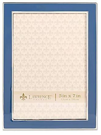 Lawrence Frames 5x7 Navy Enamel Picture Frame Blue