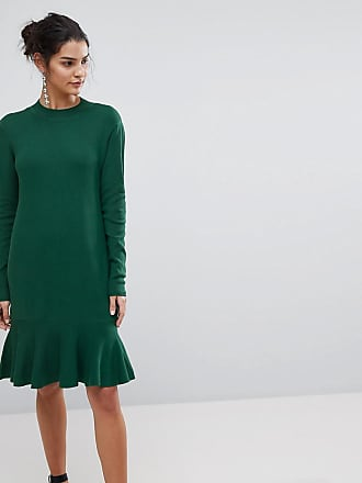 Y.A.S Knitted Dress With Peplum - Green