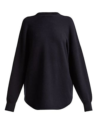 Extreme Cashmere No. 53 Crew Hop Cashmere Blend Sweater - Womens - Navy