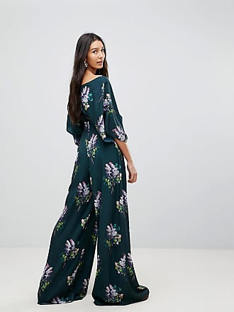 e4cd7ba9b1e Asos Tall Jumpsuit with Kimono Sleeve and Wide Leg in Print - Multi