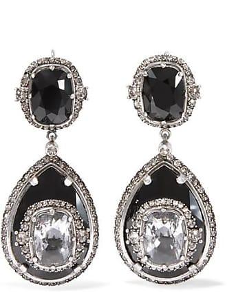 Alexander McQueen Silver-tone Crystal Earrings