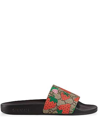 Gucci GG Gucci Strawberry slide sandal - Black