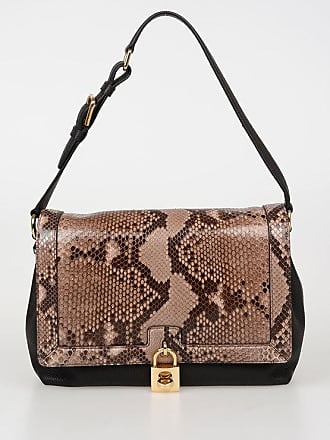 2050a8d8cf02 Dolce   Gabbana Leather Shoulder Bag with Python Skin Insert size Unica