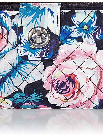 Vera Bradley Womens Iconic Signature Cotton RFID Turnlock Wallet, Garden Grove, One Size