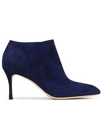 e6a585126ed102 Sergio Rossi Sergio Rossi Woman Suede Ankle Boots Indigo Size 35.5