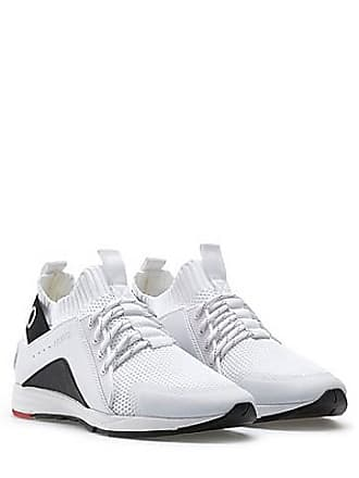 018ed4983c5 HUGO BOSS Running-inspired trainers with knitted sock and statement logo