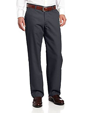 Lee Lee Mens Total Freedom Relaxed Fit Flat Front Pant - 42W x 34L - Navy