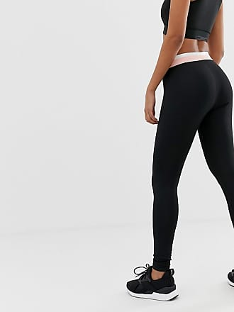c123c8608999 Puma active essentials leggings in black with pink waistband - Black