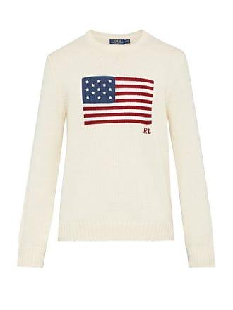 0ea93d6dd94 Polo Ralph Lauren Pull en maille de coton à drapeau en intarsia
