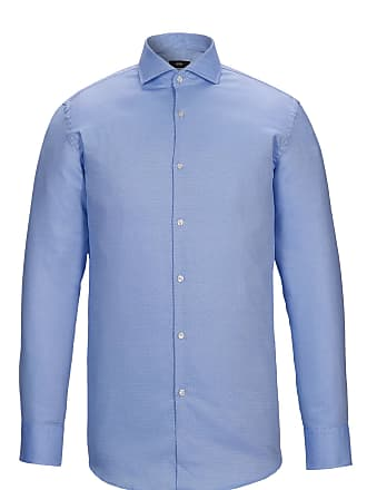 ec385df78 BOSS Slim-fit shirt in pure cotton with spread collar