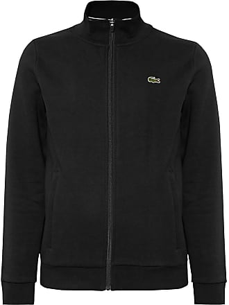 8e2abc9826b Lacoste Fleece-back Cotton-blend Jersey Zip-up Tennis Jacket - Black