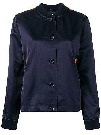 Ymc You Must Create side stripe bomber jacket - Blue