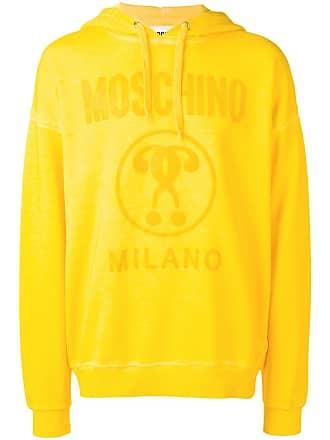 Moschino logo print hoodie - Yellow