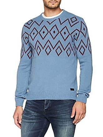 75bbe93d8484 Trussardi Herren Pullover Round Neck Wool Blend Jacquard