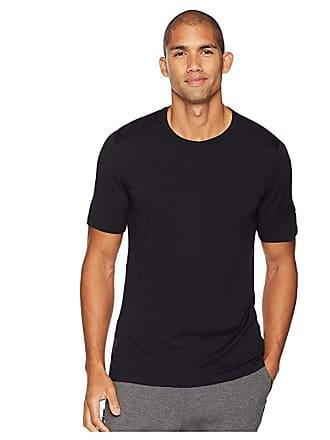 Icebreaker Oasis Short Sleeve Crewe (Black 1) Mens Short Sleeve Pullover