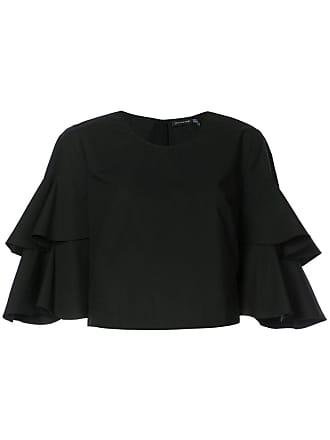 Natori Camiseta com amarração nas mangas - Preto