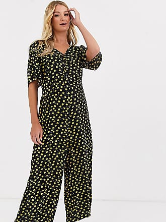 Asos Maternity ASOS DESIGN Maternity jumpsuit with double tie front in ditsy print-Multi